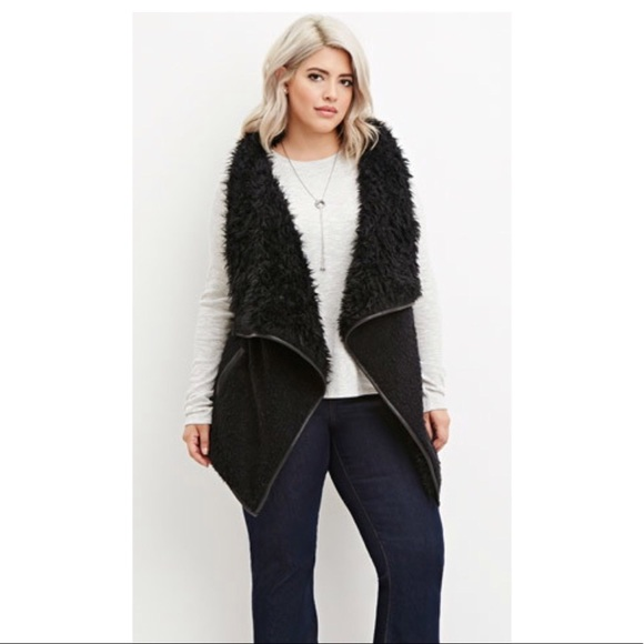 b7f0f6a4bee34 Forever 21 Jackets   Blazers - Forever 21 PLUS Size Faux Fur Vest